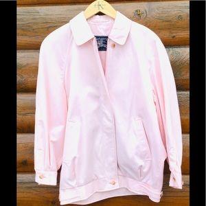Vintage Burberry Jacket Rare Pink  FUR COLLAR